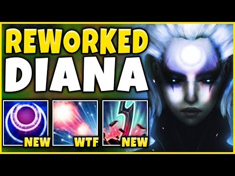 *NEW COMBO* HOW OP ARE THESE DIANA UPDATES?!? (1V5 RAMPAGE) - League of Legends