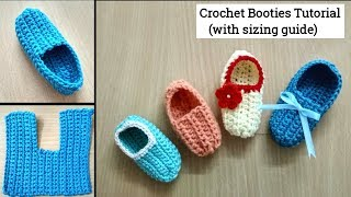 How To Make Crochet Baby Booties / Shoes / Slippers - जुराब बनाने का आसान तरीका  (English Subtitles)