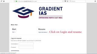 Online Test Series tutorial - Gradient IAS