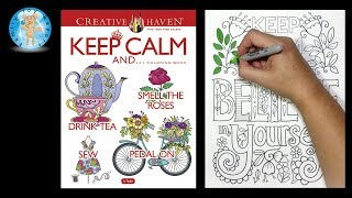 Creative Haven Keep Calm Coloring Book Dover Publications Believe In Yourself -- Family Toy Report
