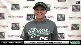2022 Nadia Nayomi Gomez Catcher Softball Skills Video - Ohana Tigers