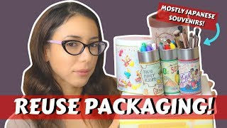 How To Reuse Packaging For Storage & Organization! | Japanese Souvenir Packaging