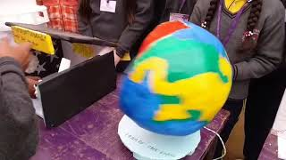 Working model globe with the help of thermagol and motor