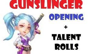 Opening GUNSLINGER New Hero + Talent Rolls Castle Clash