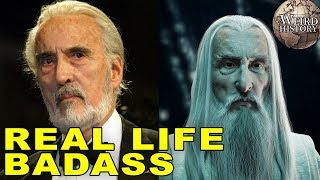 Actor Christopher Lee Was A Real Life Badass