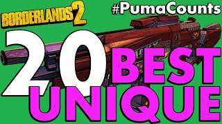 Top 20 Best Unique Guns and Weapons in Borderlands 2 #PumaCounts