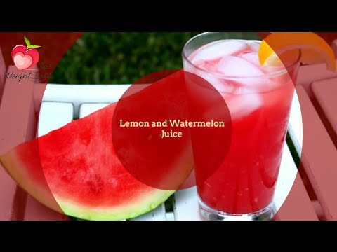 Video Lemon and Watermelon Juice Recipes | Juices for weight loss