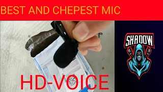 Best chepest mic hd voice record| Mic problem|SHADOW HINDI GAMIMG