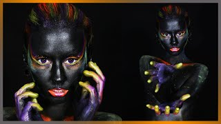 Paint It Black Body Paint Photoshoot Houston, TX | Behind The Scenes With MMP Studios