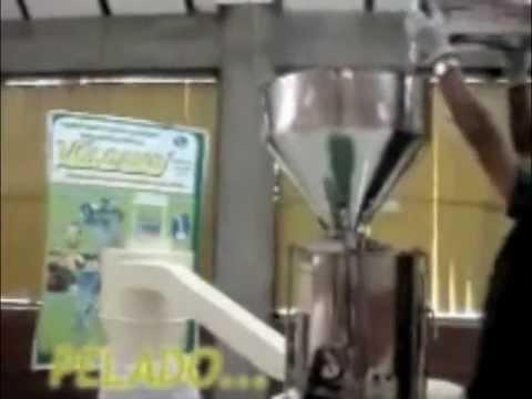 Peladora - Pulidora - Prueba con cebada - Vulcano Tecnología Aplicada EIRL