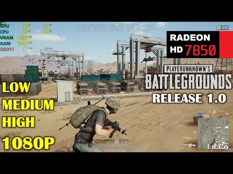 HD 7850 / R7 265 | PUBG 1.0 Release - 1080p Low, Medium and High
