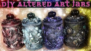 Altered Art Jars - DIY Decorated Containers - Painted Jars