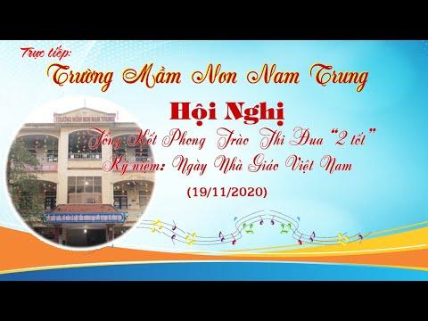 Giao lưu văn nghệ mừng ngày nhà giáo Việt Nam 20/11 trường mầm non Nam Trung