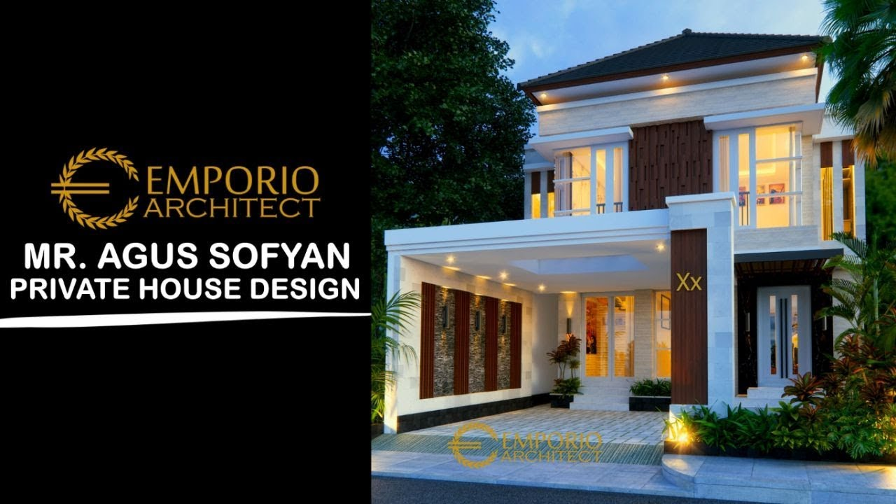 Video 3D Mr. Agus Sofyan Villa Bali House 2 Floors Design - Surabaya