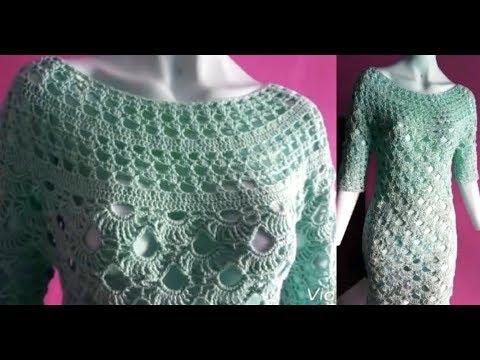 3ec4e6be74311 طريقة عمل فستان نسائي كروشيه - смотреть онлайн на Hah.Life