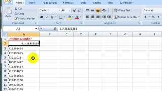 How to Convert Text to a Number in Excel 2007