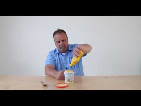 I have videos of a guy eating every food as a topping on ice cream. This is mustard. I'll respond to any food request in the comments with the appropriate video.