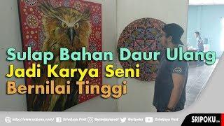 Karya Seni Crazy Art Dipamerkan di Graha Taman Budaya Sriwijaya