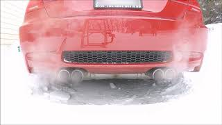 homepage tile video photo for E92 M3 Snow Cold Revs and Kicking Rocks in the Snow