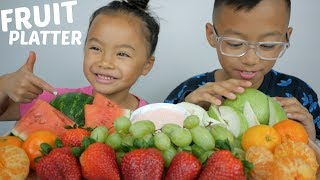 Fruit Platter | Mukbang | N.E Lets Eat