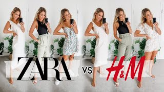 ZARA Vs H&M HAUL! SAME OUTFIT, DIFFERENT BRAND!   Who Did It Better?!   Charlotte Beer