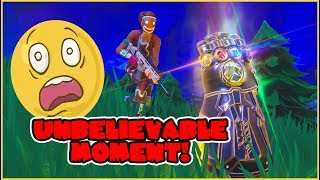 HOW TO KILL THANOS WITHOUT EVEN SHOOTING! - Fortnite Infinity Gauntlet Funny Moments