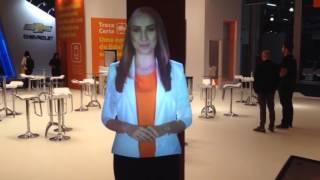 Holograma  - Promotora virtual Itaú