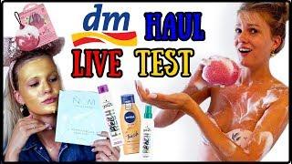 dm HAUL LIVE TEST & REVIEW - Bräunungscreme, Trockenshampoo usw. I Cindy Jane