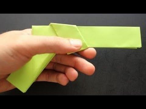 How to make Origami Gun - Paper Guns