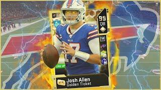 Golden Ticket Josh Allen Lights The Field On Fire! (Madden 20)