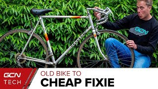 How Cheaply Can You Build A Fixed Gear Bike?   Cheap Bike To Fixie Ep.1