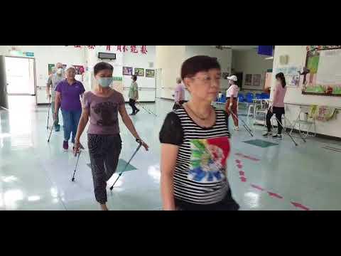 安南區衛生所-教導高齡長者健走方式