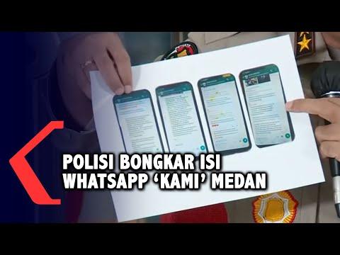 polisi bongkar isi whatsapp kami medan