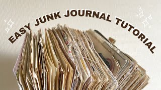 How to Make a Junk Journal | Step-by-step process & my top tips ✨