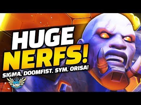 Overwatch - HUGE Doomfist and Sigma NERFS! Barriers NERFED! MASSSIVE PTR UPDATE!