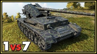 Waffenträger auf Pz. IV - 1 vs 7 - World of Tanks Gameplay