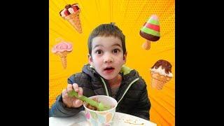 Ратмир выбирает мороженое   Ratmir is bying  ice cream