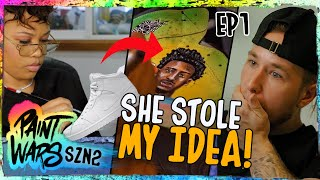 The CRAZIEST Size 18 Jordan 1s Ever! Best Customizers On EARTH Try To Impress NBA STAR 😱
