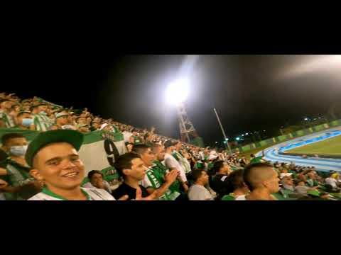 """""""ALIANZA PETROLERA 1 VS ATLÉTICO NACIONAL 3 / LOS DEL SUR SIEMPRE PRESENTES 2021 🎺📢🔥"""" Barra: Los del Sur • Club: Atlético Nacional • País: Colombia"""