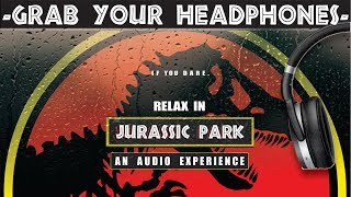 3 HOURS Of RELAXING RAIN In JURASSIC PARK! - Calming Rain And Thunder - Dinosaur Sounds - Ambiance