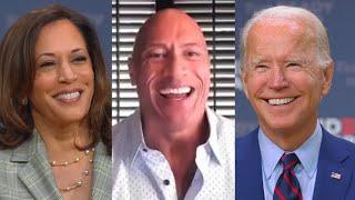 Dwayne ' The Rock' Johnson Talks With Joe Biden and Kamala Harris On the Importance of Voting
