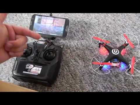 FPV Quadrocopter Spyforce1 Ninetec Android Iphone Wifi Live