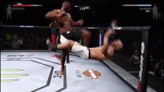 MY CREATED FIGHTER IS UNSTOPPABLE!!! (CRAZY KNOCKOUTS UFC2)