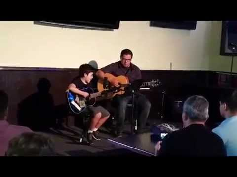 A video of my guitar student performing his original song.