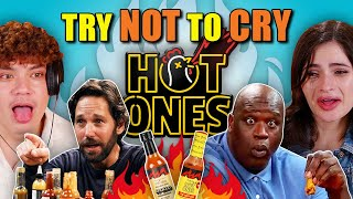 Try Not to Cry | People Vs. Hot Ones Spicy Challenge