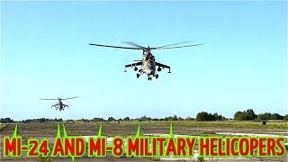 Russian Mi-24 And Mi-8 Military Helicopters In Action!