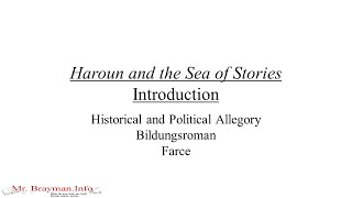 Haroun and the Sea of Stories Introduction