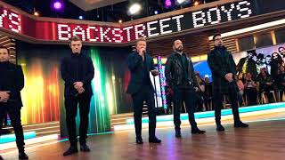 Backstreet Boys Chances Live (Soundcheck after Good Morning America for GMA Day) 1/25/19