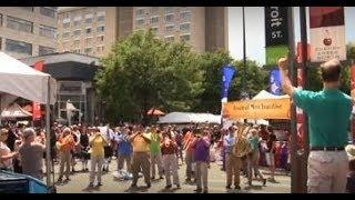 """God Bless America"" Flash Mob with Denver Brass"