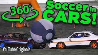Playing SOCCER With CARS In 360 (Rocket League) - Game Lab 360 Video by The Game Theorists